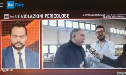 L'intervento di William Beozzo a Rai3 Agorà